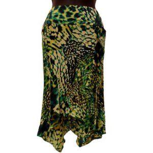 Marciano Stretch Silk Animal Print Skirt- Sz. 0